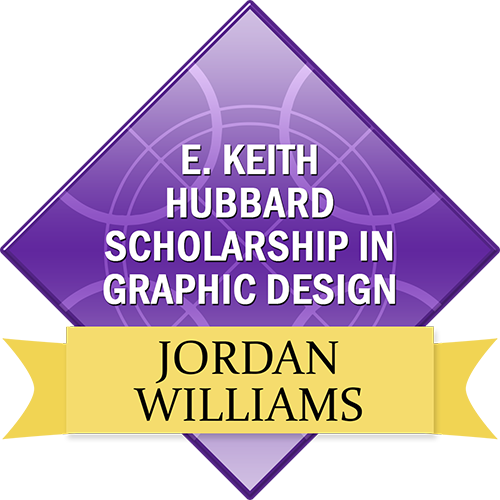 E. Keith Hubbard Scholarship in Graphic Design: Jordan Williams
