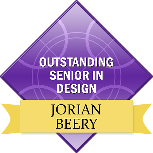 Outstanding Senior in Design: Jorian Beery