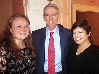 DC Students and US Senator Rob Portman